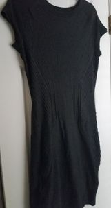 Charcoal H&M bodycon sweater dress, M